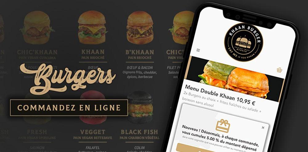 vente a emporter khaan burger